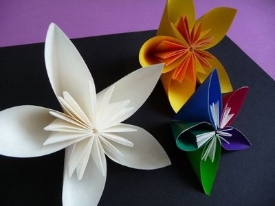 origami flowers, origami and flowers.