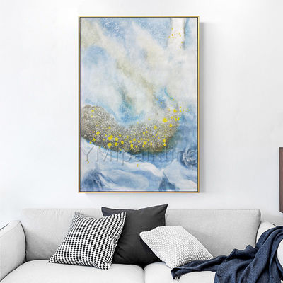 Modern abstract yellow painting acrylic paintings on canvas original art Blue painting extra large Wall art cuadros abstractos wall decor $116.47