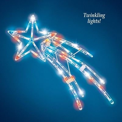 Shooting Star Fourth of July Lighted Outdoor Decoration by Decorshop $17.95