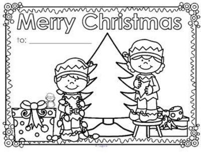 christmas greeting cards coloring pages | ***FREE*** Christmas posters or greeting cards to decorate ...