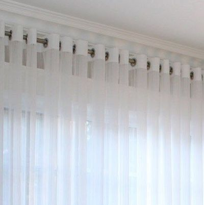 Grommet Voile Drapery �€œHudson�€, Window Sheers, Sheer Curtains, Sheer Drapes, Window treatment, Made-to-Order $150.00