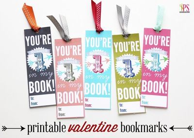 graphic regarding Printable Valentine Bookmark identified as Youre Quantity One particular within My Reserve Cost-free Bookmark Printable. Fo