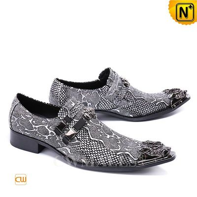 Leather Jackets & Leather Shoes | CWMALLS® Miami Men Embossed Leather Shoes CW708213 [Custom Made]