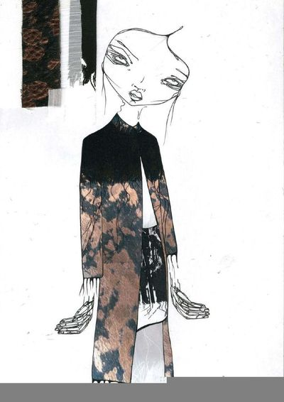 Fashion Sketchbook Page Fashion Design Development With Fa Nice Signs Juxtapost
