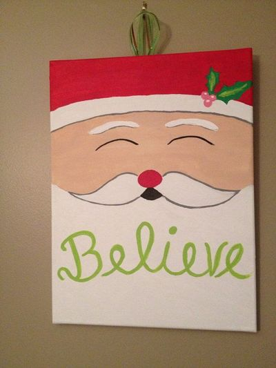 Believe Santa Christmas Canvas on Etsy, $15.00, Jenn you nee ...