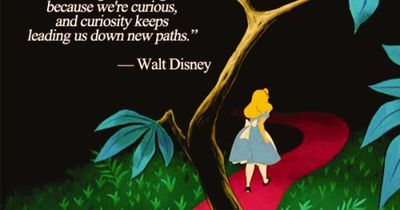 """We keep moving forward, opening up new doors and doing new things, because we're curious...and curiosity keeps leading us down new paths.�€ ~ Walt Disney #quote #curiosity"
