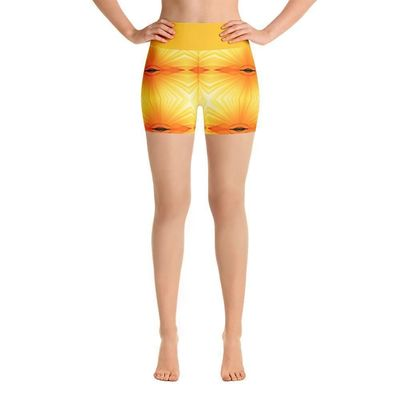 """Exclusively from And Above All YOGA --- """"Sunspots"""" Deluxe Made to Order Yoga Shorts for just $39.00 with FREE SHIPPING"""