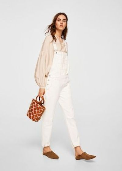 White denim dungarees
