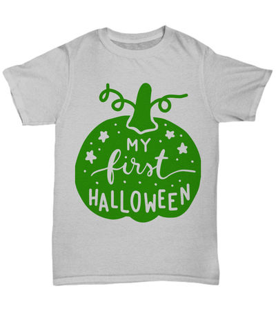 25% off Sale My first halloween halloween dark unisex t-shirt $27.95