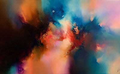 Original abstract expressionism 'Deeply Moving Dreams' by award-winning artist, Simon Kenny $8890.00