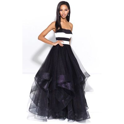 Black Madison James 17-228 Prom Dress 17228 - Ball Gowns Long Dress - Customize Your Prom Dress