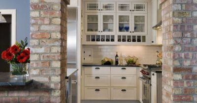 Kitchen Exposed Brick Wall