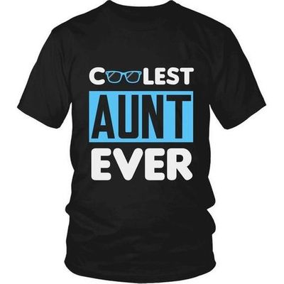 Cool Aunt, Coolest Aunt Ever T-Shirt, Gift for Aunt, Gift for Aunty, Gift for Great Aunt, Aunt Gift, Aunt T-Shirt, Aunt Shirt, Aunty Gift $20.99