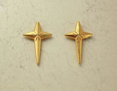 Gold Magnetic Cross Non Pierced Clip Earrings $25.00 Designed by LauraWilson.com