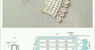 simple scarf with flower border - lacy crochet
