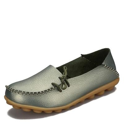 New Women Real Leather Shoes Moccasins Mother Loafers Soft Leisure Flats Female Driving Casual Footwear $24.40