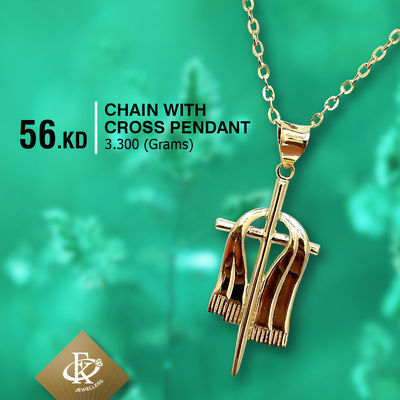 #ValentineSpecialSale � Embrace your faith with this Necklace handsomely made with 18K gold. �–� Product type: Gold Pendant with Chain  �–� Price: 56KD �–� Weight: 3.300 Grams �–� Free Delivery  �–� Karat: 18 Karat  �...