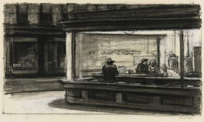 edward hopper, whitney museum and drawings.