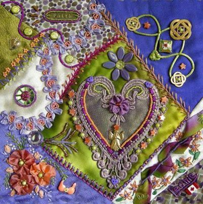 I � crazy quilting, & embroidery . . . Allie's in Stitches: crazy quilt blocks