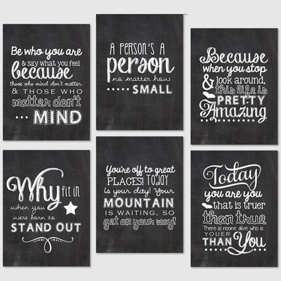Project Life Printables - 3x4 Journaling Cards - Chalkboard Dr. Suess ...