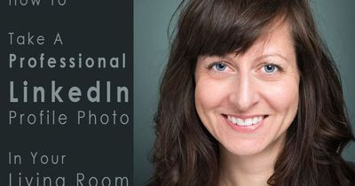How To Take A Professional LinkedIn Profile Photo In Your Living Room