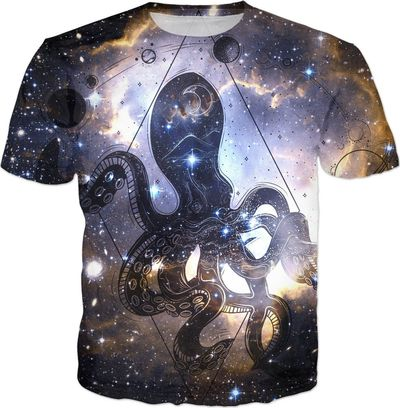 ROTS Octopus in Space Adult T-Shirt $25.00