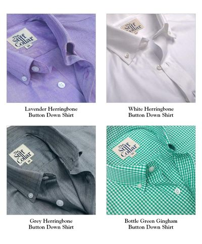 Pack of 4 Premium Cotton Regular Fit Button Down Shirt Combo �'�5999.00