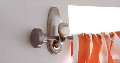 If you need an easy way to hang a curtain rod, use Command hooks.   31 Home Decor Hacks That Are Borderline Genius