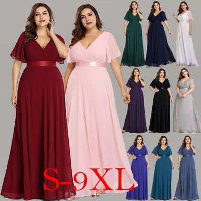 Long Elegant Chiffon Dresses 4xl 5xl 6xl $47.98