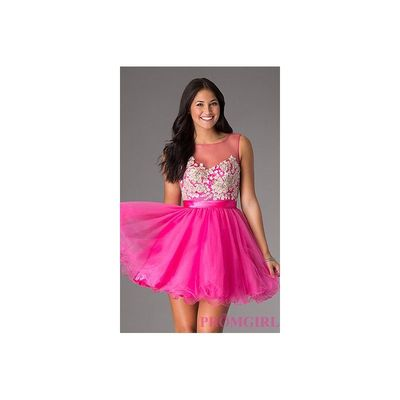 ML-9285 - Mori Lee Short Homecoming Dress - Bonny Evening Dresses Online
