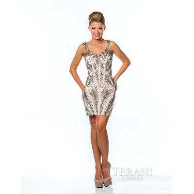 Silver Nude Terani Homecoming 1521H1027 - Brand Wedding Store Online