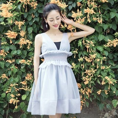 Frilled Slimming High Waisted Organza Dress Formal Wear - Bonny YZOZO Boutique Store