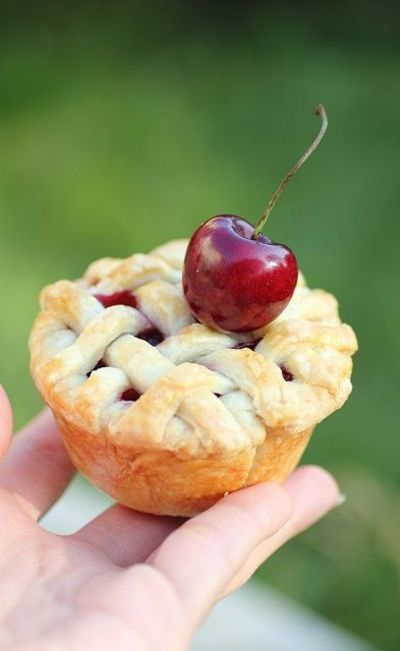 tiny pies in cupcake tins.