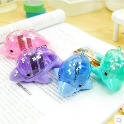 One Piece Twin Dolphin Pencil Sharpener. Different Colours Children School Office Stationery. £8.99