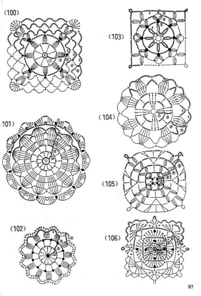 crocheted lace motif diagrams CROCHET FREE LESSON ...