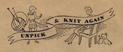 """UNPICK AND KNIT AGAIN -- """"Make Do and Mend"""", WWII booklet (I have gotten some great yarn this way. :-)"""