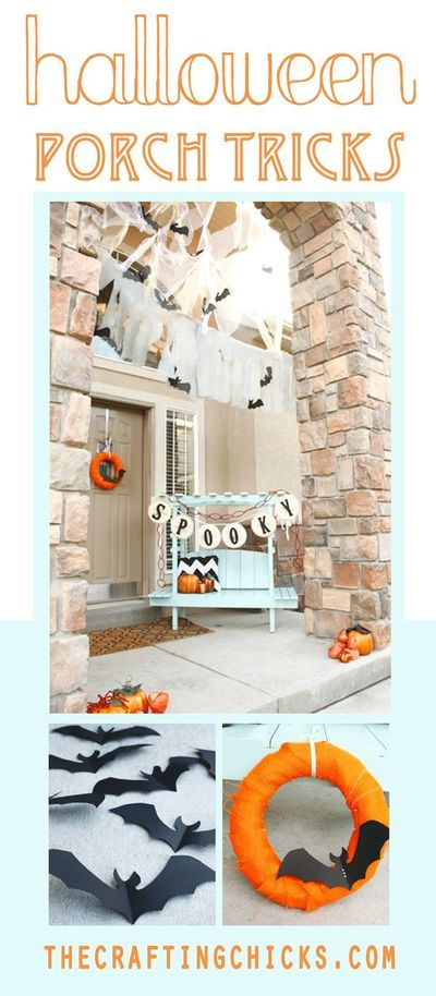 halloween porch, porches and halloween.