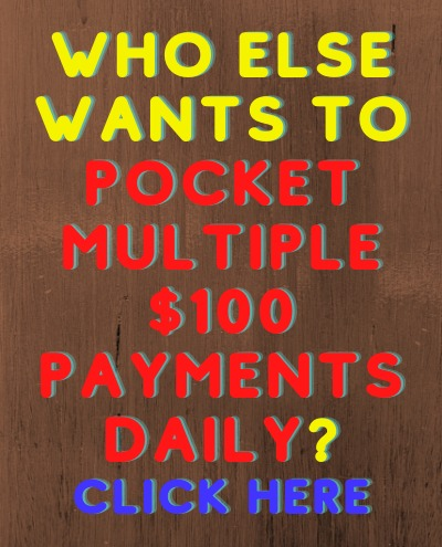 Learn how you can use our affiliate program to make multiple $100 payments daily working part-time in the comfort of your own home!   Then use the same step-by-step training to Get Traffic to Your Website to get sells! http://bit.ly/DT0400Day