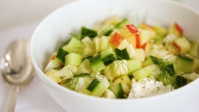 Summer salad Apple, fennel and cucumber