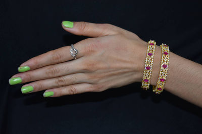 one gram gold micro czs bangles with ruby and emrald stones $80.00