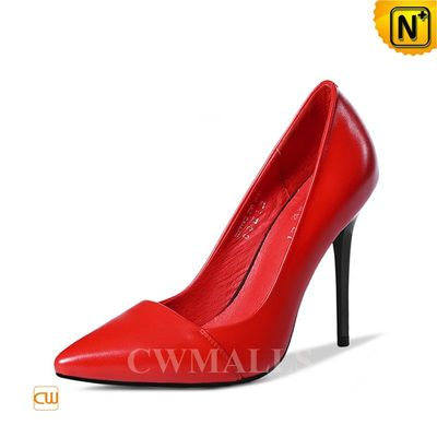 CWMALLS® Leather Pointed Toe Pumps CW306105