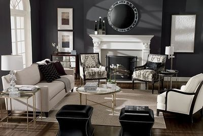 Joanna- this makes me want my living room dark painted versus light..I love this