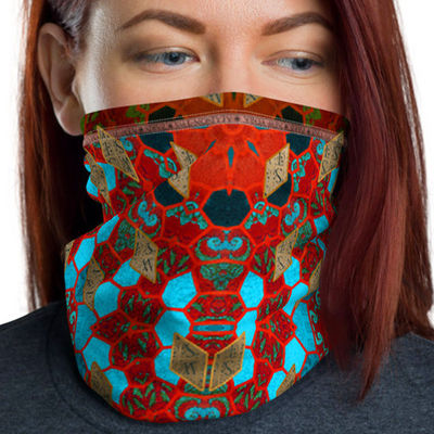 Mask Neck Gaiter Unisex Cute Mask For Women, 12 in 1 Multi-functional Face Mask Cover Bandana Headband Neckerchief Wristband SKU:TWS-4002 09 $19.85