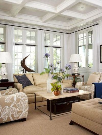 Living Room With Custom Windows A 12 Foot High Ceiling Leave For The Home Juxtapost