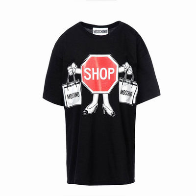 Moschino SHOP Womens Short Sleeve T-Shirt Black