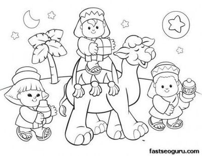 Free Printable Coloring Christmas Picture Of Wise Men Fargel Wise Coloring Page
