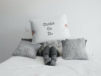 Choke on it a sexy ,dirty rude vulgar pillow case gag gift| batchelor party |batchelorette party | $19.95