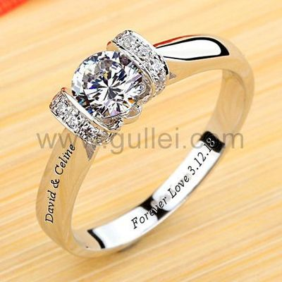 Engraved 0.5 Carat Diamond Engagement Ring for Women https://www.gullei.com/outside-engraved-0-5-carat-nscd-diamond-18kgp-engagement-ring.html