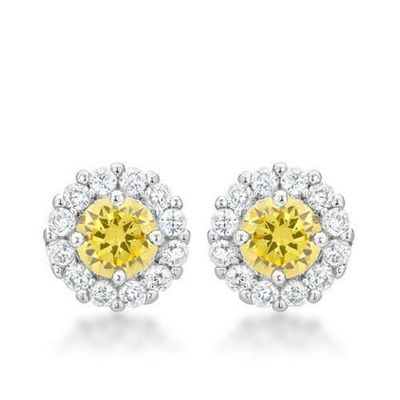 Bella Bridal Earrings in Yellow $30.00