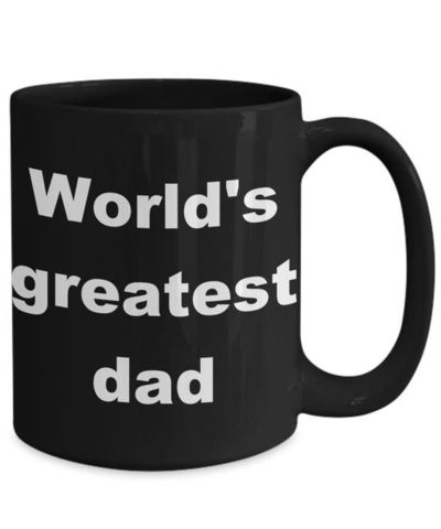 World's greatest dad father's day gift black ceramic coffee mug $17.99